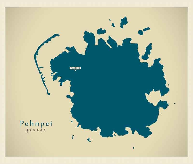 ポンペイ島画像